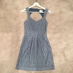 Anthropologie Light Blue Lace Dress